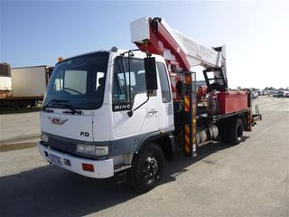1992 Hino FD EWP (Truck mounted) 1 Key, Major Inspection OF EWP ON 9/2016 GVM 9,800kg Photo