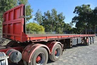 2008 top Start TRI Axle Flat Top Trailer Photo