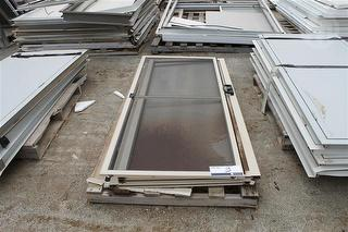Sliding Door And Flyscreen Fixed Glass 2080mm X 900mm Location: Muchea, Colour: Paper Bark Photo