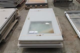 4X Metal Clad Door IN Frames With Glass 2040mm X 940mm Location: Muchea, Colour: 2X Shale Grey & 2X Photo