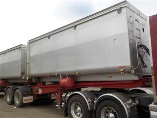 2003 Moore Tandem A-slideback Tipping Trailer Soft Canopy Covers ATM 16,500kg Photo