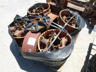 Axle Hubs, Spacers And Drums Pallet OF Spare Parts Photo