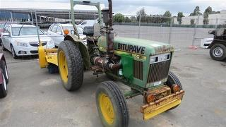 John Deere 950 Tractor with P.T.O driven road broom Photo