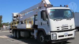 2012 Isuzu FVZ1400 EWP (Truck mounted) With 1989 GMJ T24 250 Tower GVM 24,000kg Photo