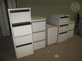 3 X Filing Cabinets Office Furniture Photo