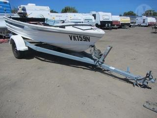 Quintrex 14' Boat For Restoration - Sold with Felk trailer MN 5224573 Lot 647 Photo
