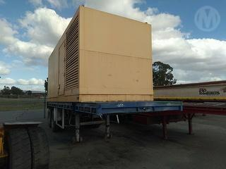 Custom Trailer Mounted Generator Flat Top Trailer Photo