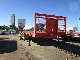 1990 Freighter Double Deck Flat Top Trailer Photo