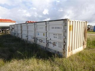 Damaged Sea Container Half Height, Side Opening Storage / transport conta Photo