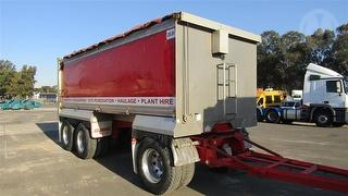 2012 Sloanebuilt Three Axle Dog Tipping Trailer ATM 25,500kg Photo