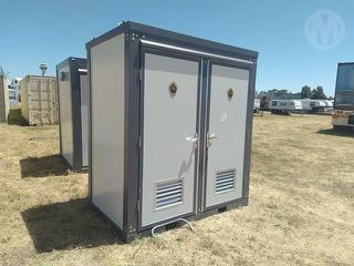 As New Double Toilet Unit Portable Toilet Photo