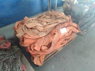 Assorted Soft Slings Pallet OF 10T Soft Slings Slings Photo