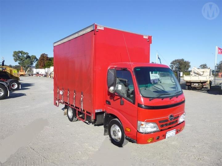 Used 2008 Hino 300 Curtainside GCM 7,995kg For Auction in
