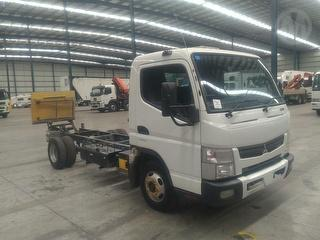 2012 Fuso Canter 515 Cab Chassis Tieman Tkcl Tailgate Loader. GVM 4,500kg Photo