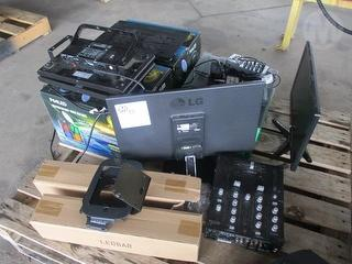 Assorted Mixers, Screens And Lights Electronics Equipment Photo