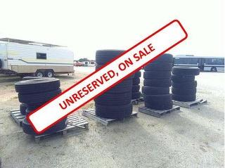 Assorted 36X Tyres Spare Parts Photo