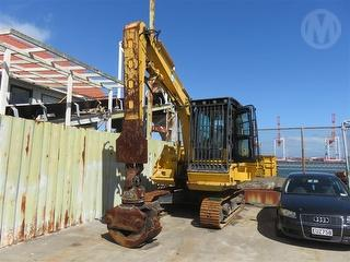 2013 Komatsu PC130-8 Excavator Fitted with Ensign 15-18 Rotator Grapple Photo